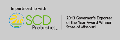 In partnership with SCD Probiotics: 2013 Governor's Exporter of the Year Award Winner, State of Missouri